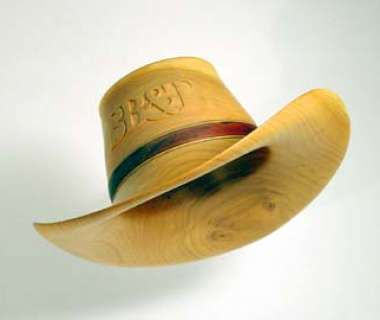 Cowboy Hat Carved